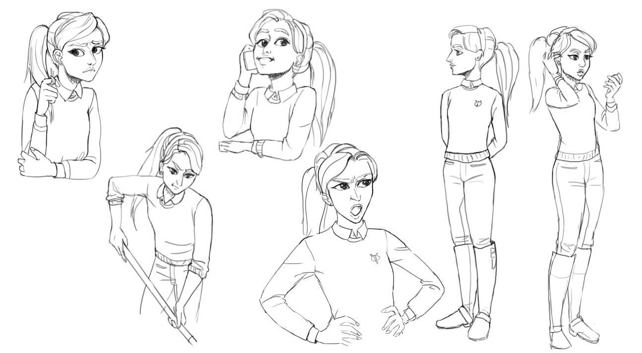 Anne poses