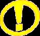 Point d'exclamation jaune dans un cercle