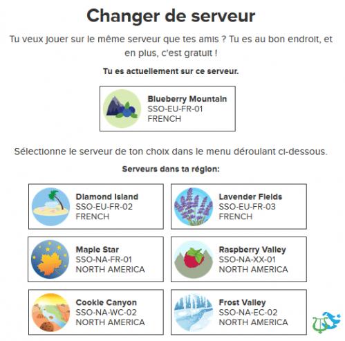 Changer de serveur